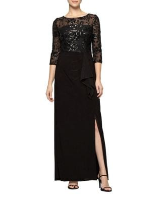 Photo of Alex Evenings Sequined Column Gown