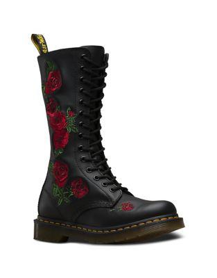 Vonda Leather Combat Boots by Dr. Martens