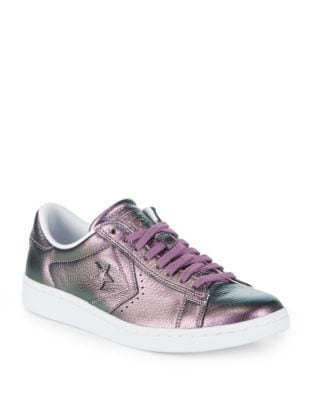 Metallic Leather Sneakers by Converse