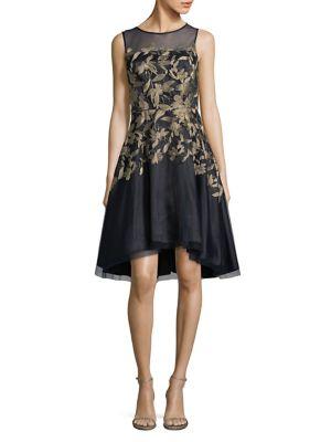 Sleeveless Fit-&-Flare Dress by Tahari Arthur S. Levine
