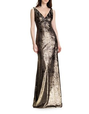 Burnished Floor-Length Dress by Theia