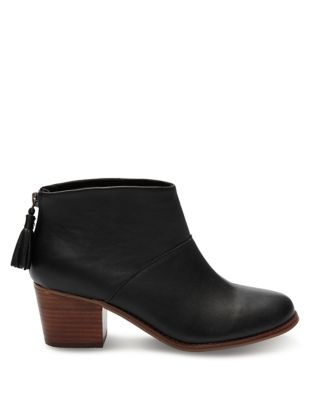 Leather Ankle Booties by TOMS