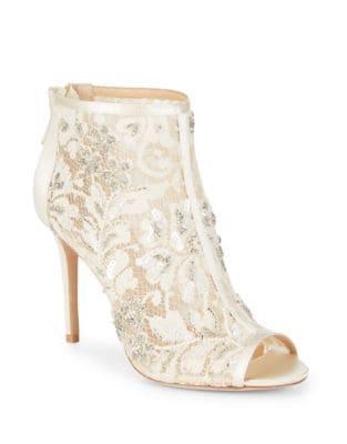Moyra Textile Peep Toe Booties by Badgley Mischka