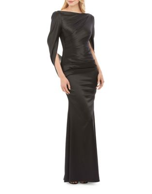 Photo of Nicole Miller New York Drape Back Sleeve Gown