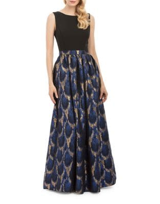 Sleeveless Jacquard Gown by Nicole Miller New York
