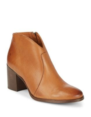 Photo of Nora Leather Zip Booties by Frye - shop Frye shoes sales