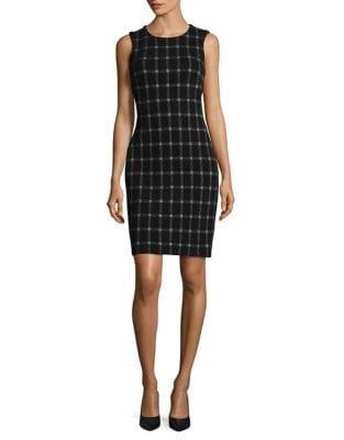 Checkered Sleeveless Dress by Calvin Klein