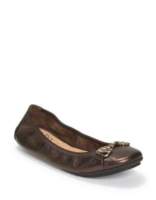 Olympia Leather Flats by Me Too
