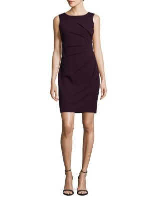 Petite Pleated Sheath Dress by Calvin Klein