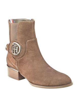 Mavrick Suede Booties by Tommy Hilfiger