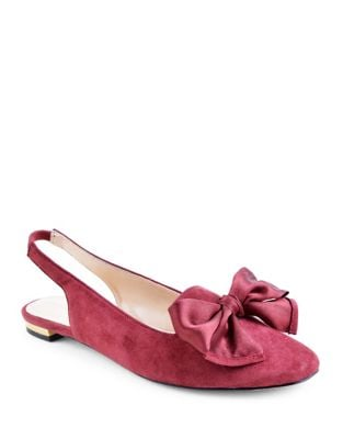 Acero Suede Slingback Flats by Adrienne Vittadini