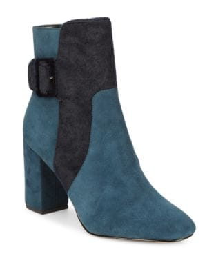 Randall Suede and Calf Hair Boots by Avec Les Filles