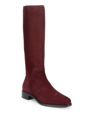 Nicolette Suede Knee-High Boots by Aquatalia