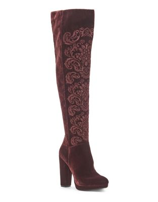 Grizella Velvet Boots by Jessica Simpson