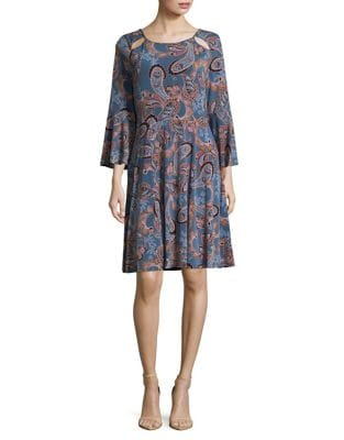 Paisley Knee-Length Dress by Ivanka Trump