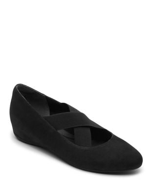 Total Motion Etenia Gore Suede Mary Jane by Rockport