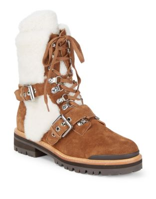 Suede Shearling Mountain Boots by Sigerson Morrison