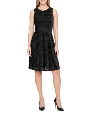 Sheer Stripe Dress by Tommy Hilfiger