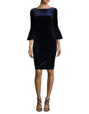Glitter Bell-Sleeve Dress by Calvin Klein