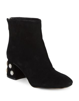 Rose Suede Booties by Nanette By Nanette Lepore