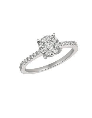 0.5 TCW Diamond and 14K White Gold Ring