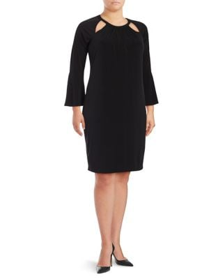 Plus Long Bell Sleeve Dress by Calvin Klein