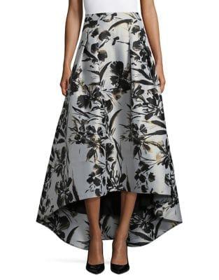 Plus Hi-Lo Floral Ball Skirt by Eliza J
