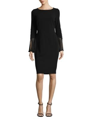 Long-Sleeve Dress by Calvin Klein