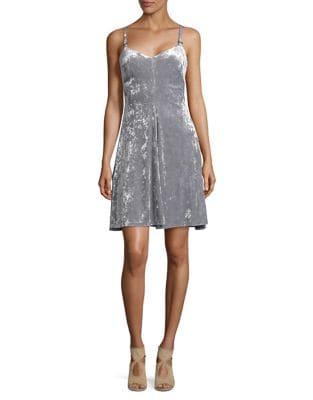 Velvet A-Line Slip Dress by Calvin Klein