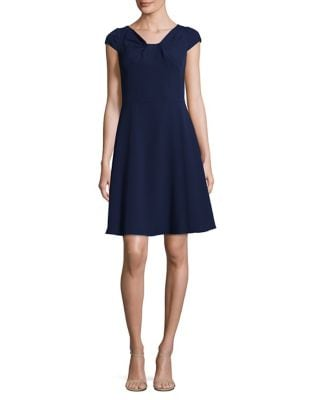 Stretch Crepe Fit-&-Flare Dress by Adrianna Papell