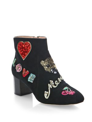 Liverpool Embellished Suede Booties by Kate Spade New York