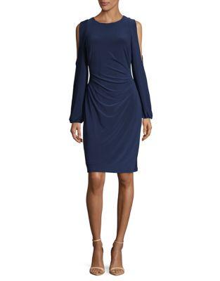 Cold-Shoulder Sheath Dress by Lauren Ralph Lauren