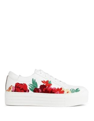 Abbey 2 Floral Leather Sneakers by Kenneth Cole New York