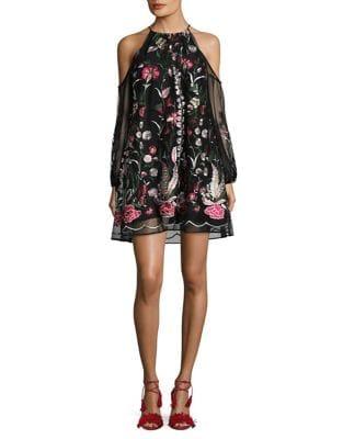 Shauna Cold Shoulder Dress by Belle Badgley Mischka