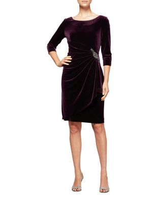 Velvet Sheath Dress by Alex Evenings