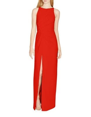 Ruched Side Slit Gown by Halston Heritage