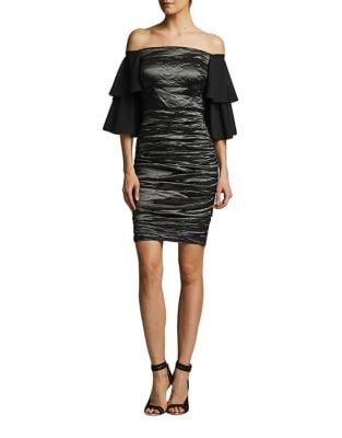 Off-The-Shoulder Dress by Nicole Miller