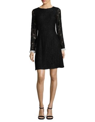 Long Sleeve Lace Dress by Adrianna Papell