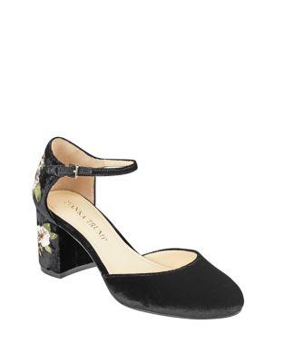 Flavia Velvet Ankle-Strap Pumps by Ivanka Trump