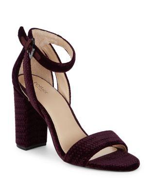 Velvet Ankle Strap Sandals by Botkier New York