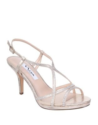 Blossom Strappy Metallic Sandals by Nina