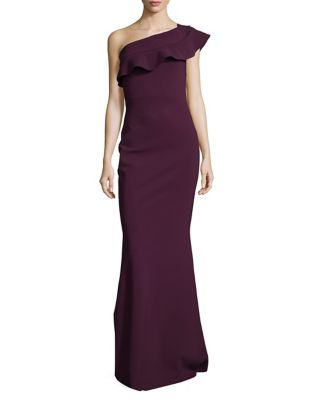 Ruffle Floor-Length Gown by Chiara Boni La Petite Robe