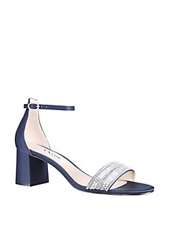 5fad85ae3c7da4 Elenora Embellished Cutout Sandals TRUE SILVER LEATHER. QUICK VIEW. Product  image