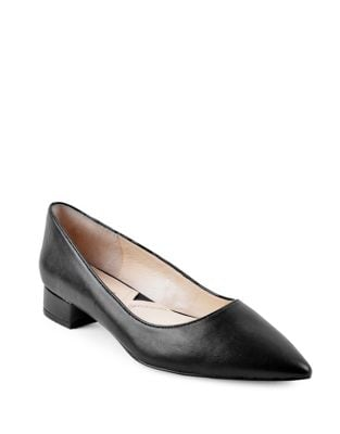 Falla Leather Point Toe Pumps by Adrienne Vittadini