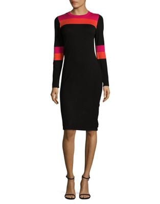 Contrast Sweater Dress by Eliza J