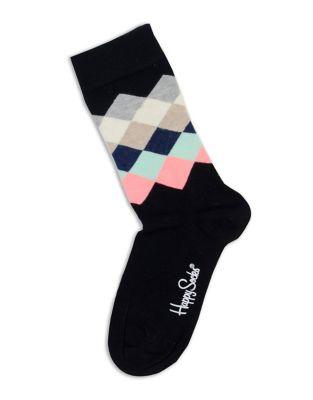 Happy Socks DIAMOND PRINT CREW SOCKS
