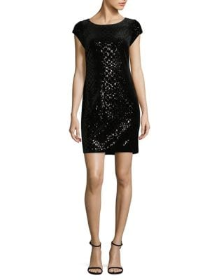 Geometric Sequined Sheath Dress by Vince Camuto