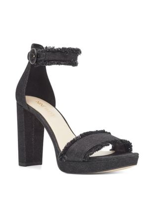 Daranita Ankle-Strap Denim Sandals by Nine West