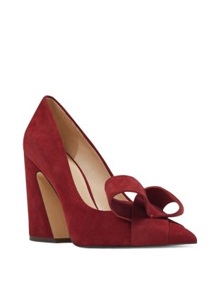 Haddriana Origami Bow Suede Pumps by Nine West