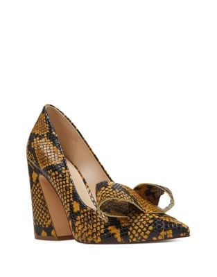 Haddriana Bow-Accent Snake-Look Pumps by Nine West